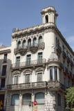 Arkitektur på La Rambla i Barcelona Arkivfoton