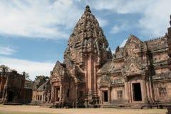 Arkitektur på Phanom ringde tempelet i Buriram Thailand Fotografering för Bildbyråer