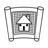arkitektur planerar översikten för byggnadsstrukturen royaltyfri illustrationer