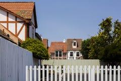 Arkitektur som finnas i Solvang, Kalifornien royaltyfri bild