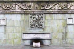 1193 1197 arkitektur som snider för russia för domkyrkademetriusmonument white för vladimir för sten st unik Arkivbild