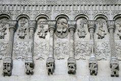1193 1197 arkitektur som snider för russia för domkyrkademetriusmonument white för vladimir för sten st unik St Demetrius Cathedr Royaltyfria Foton