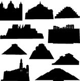 arkitektur veten mexico well vektor illustrationer
