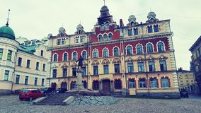 Arkitektur Vyborg arkivfoto
