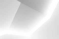 Arkitekturbakgrund, vit nisch Arkivbilder