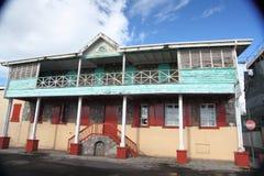 Arkitekturbyggnader i Dominica, karibiska öar Arkivfoto