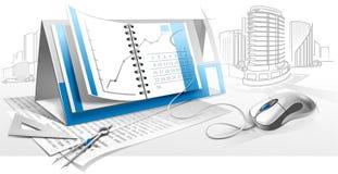 arkitekturbyggnadsindustri vektor illustrationer