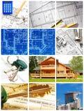 arkitekturcollage Fotografering för Bildbyråer