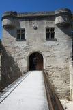 Arkitekturdetalj av det Pont helgonet-Bénézet, Avignon, Frankrike Fotografering för Bildbyråer