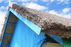 Arkitekturdetalj av ett hus med vasstaket från Tulcea, Rumänien Arkivbilder