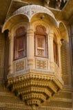 Arkitekturdetalj av Patwa Haveli i Jaisalmer, Iindia, Arkivbild