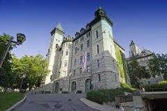 Arkitekturdetalj i Quebec City Arkivbilder