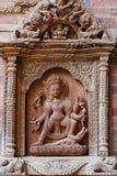 Arkitekturdetalj på slotten i Patan, Nepal Arkivfoto