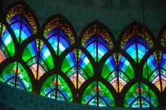 Arkitekturdetalj på Sultan Abdul Samad Mosque (KLIA-moskén) Arkivbilder
