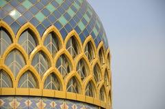 Arkitekturdetalj på Sultan Abdul Samad Mosque (KLIA-moskén) Fotografering för Bildbyråer