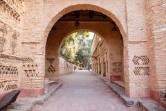 Arkitekturdetaljer av den Medina byn i Agadir, Marocko Arkivbild