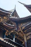 Arkitekturdetaljer för traditionell kines i den BaoLunSi templet Chongqing arkivfoton