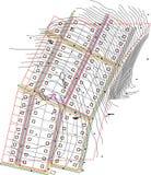 Arkitekturdiagram Fotografering för Bildbyråer