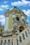 Arkitekturen av den forntida Grek-katolik kyrkan Fotografering för Bildbyråer
