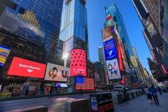 Arkitekturen av New York City i den USA tidvis fyrkanten fotografering för bildbyråer