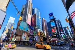 Arkitekturen av New York City i den USA tidvis fyrkanten Royaltyfria Bilder