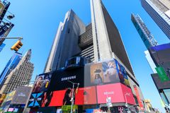 Arkitekturen av New York City i den USA tidvis fyrkanten arkivfoto