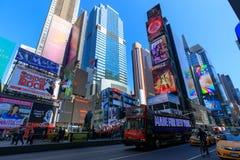 Arkitekturen av New York City i den USA tidvis fyrkanten royaltyfria foton