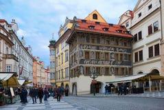 Arkitekturen av Prague Arkivbilder