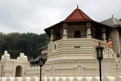 Arkitekturen av templet av den sakrala tanden i Kandy royaltyfria foton