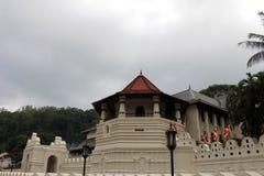 Arkitekturen av templet av den sakrala tanden i Kandy arkivbild