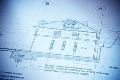 arkitekturhusplan Royaltyfri Bild