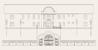 arkitekturillustration Stock Illustrationer