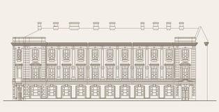 arkitekturillustration Vektor Illustrationer