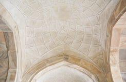 Arkitekturinläggarbete Taj Mahal Agra, Indien Royaltyfri Bild