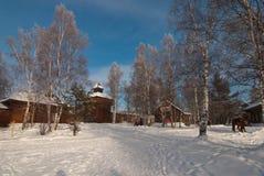 arkitekturmuseumrussia suzdal trä arkivbild