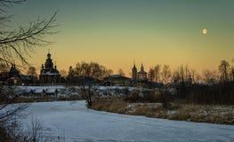 arkitekturmuseumrussia suzdal trä Royaltyfri Fotografi