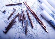 arkitekturplan Arkivbilder