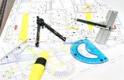 Arkitekturplan Royaltyfria Foton