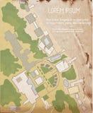 Arkitekturplan på tappningtexturen Royaltyfria Bilder