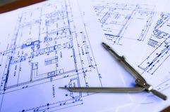 Arkitekturplanarbete 4 Arkivfoton