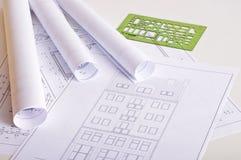 arkitekturritningar arkivfoton