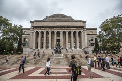 Arkiv av columbia universitet, New York City, USA arkivbilder