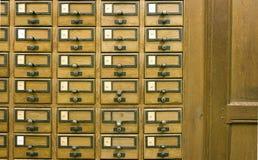 arkiv för kortkatalog royaltyfria foton