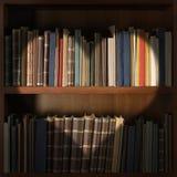 Arkivbokhylla med den ljusa strålen för hjärtaform royaltyfri fotografi