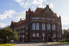 Arkivet av den polska akademin av vetenskaper i staden av Gdansk poland royaltyfri fotografi