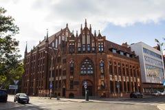 Arkivet av den polska akademin av vetenskaper i staden av Gdansk poland royaltyfria foton