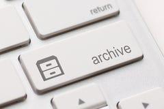 Arkivet skriver in tangent Royaltyfria Bilder