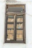 ArkivfönsterKremasti stad Rhodes Arkivbild