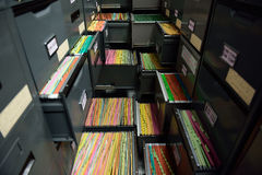 Arkivmappar Arkivbild