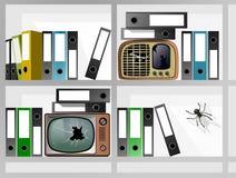 Arkivtelevisionradio Arkivfoton